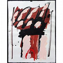"""GRAHAM CANTIENI (CANADIAN, 1938-), UNTITLED (ABSTRACTS), TWO OILS ON PAPER; EACH SIGNED AND DATED '97 LOWER RIGHT (Each sheet, 25.5"""" x 19.8"""") UNFRAMED"""