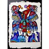 "NORVAL MORRISSEAU (INDIGENOUS CANADIAN, 1931-2007)SHAMAN'S APPRENTICE VISIONARYSERIGRAPH ON HAND CRAFTED PAPER; SIGNED, TITLED AND NUMBERED 8/57 TO ALVO CANADIAN ART EMBOSSED STAMP (Sheet, 33"" x 23"") UNFRAMED, SHRINK WRAPPED.Estimate: $300—400, Norval Morrisseau, CAD0"