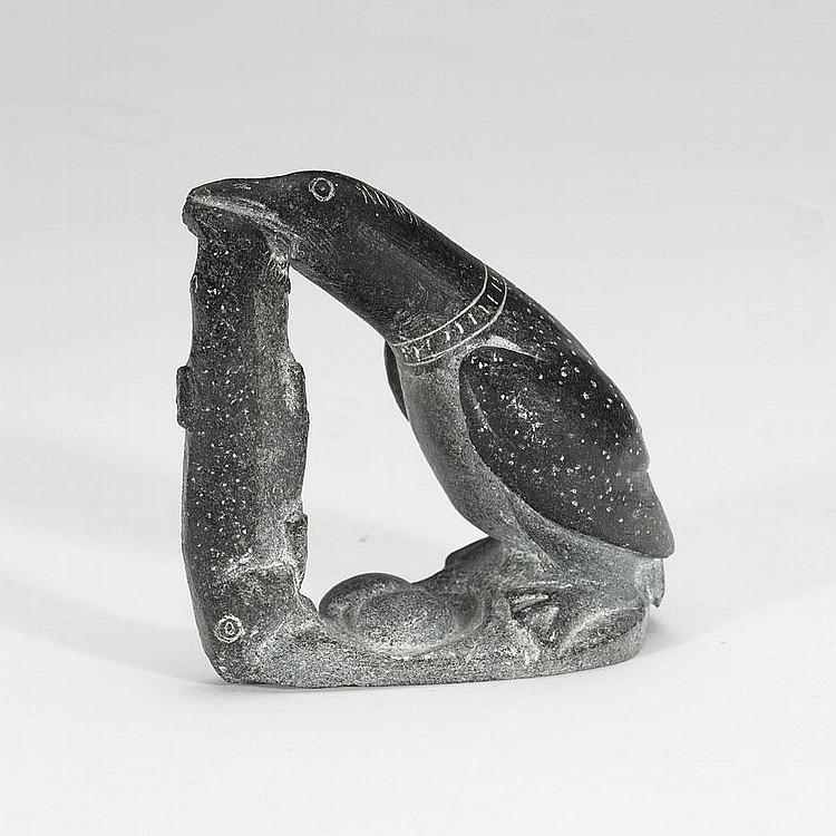 DAVIDIALUK ALASUA AMITTU (1910-1976), E9-824, PovungnitukLOON EATING FISH