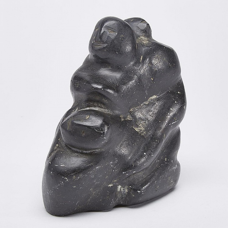 ELIZABETH KUGMUCHEAK ALOOQ (1943-), MOTHER WITH CHILDREN, stone, 6.5