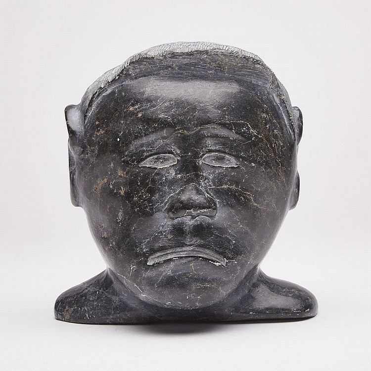 DANIEL SIMAOTIK (1907-1968), HEAD OF A MAN, stone, 6
