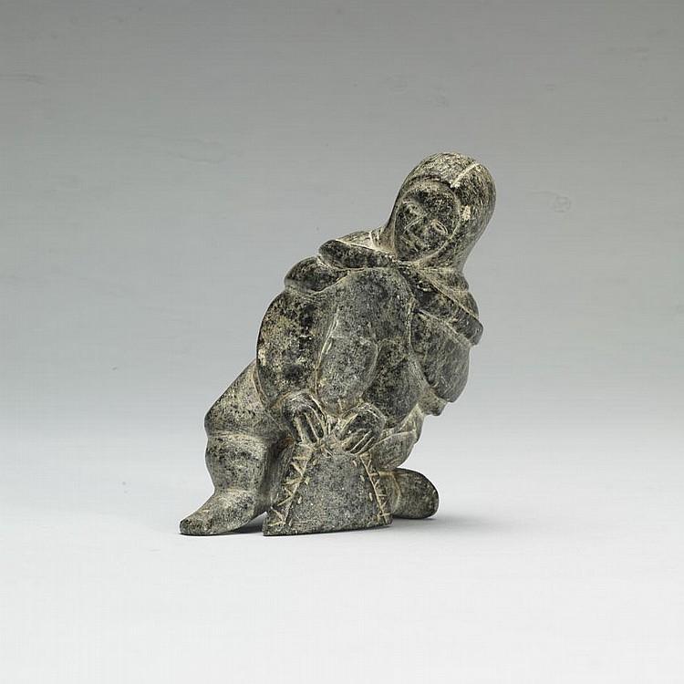 EVA ATAMMIQ KEATAINAK (1919-1988), E9-1119, SalluitWOMAN STRETCHING A SKIN