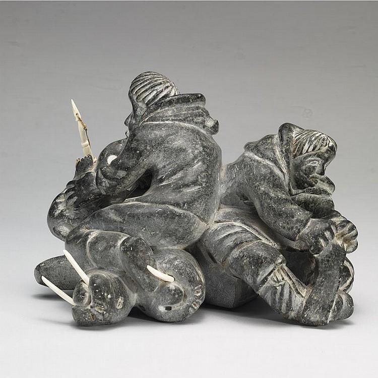 AUDLALUK KUPIRKRUALUK (1926-D), E9-1031, SalluitHUNTERS STRUGGLING WITH WALRUS