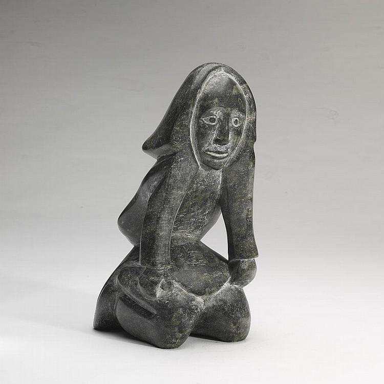 KUPPAPIK RAGEE (1931-), E7-837, Cape DorsetBEAUTIFUL WOMAN