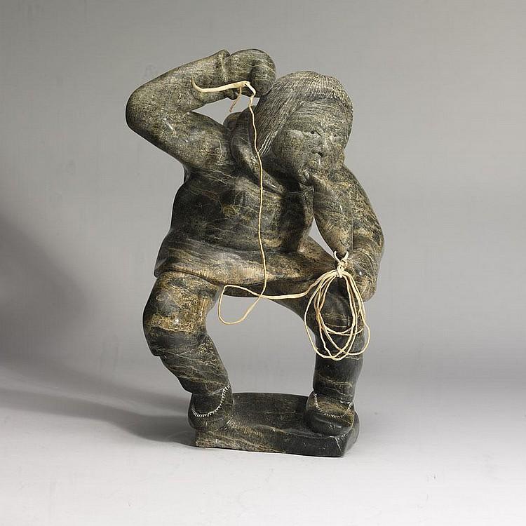 KIAWAK ASHOONA (1933-), E7-1103, Cape DorsetHUNTER