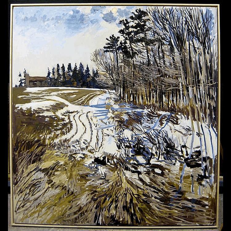 JOHN ANDERSON (CANADIAN, 1940-) HEART LAKE; OIL ON