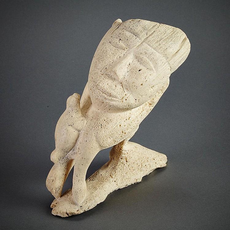 PAULOOSIE AKITIRQ (1935-), COMPOSITION, bone, 9