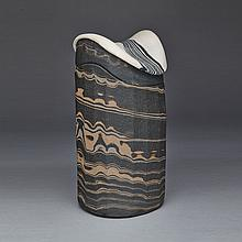 ROBIN HOPPER, LIDDED JAR - CORE SAMPLE SERIES #2, height 10.5