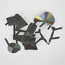 Charles Arnoldi (1946-), VENICE #11, 1988, Cast and assembled bronze with dry pigments and patina; signed, dated 88 and titled