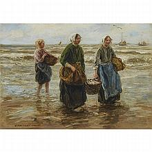 "Johann Jan Zoetelief Tromp (1872-1947), BRINGING IN THE CATCH, Oil on canvas; signed ""J. Zoetelief Tromp"" lower left, titled to gallery label verso, 27.25"