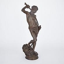 Marius-Jean-Antonin Mercie (French 1845-1916), DAVID VAINQUEUR DE GOLIATH, height 29.25