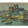 Maurice Braun (1877-1941), SAN DIEGO WATERFRONT, Oil on canvas; signed lower left, titled to the stretcher, 25