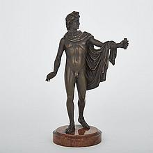 Italian Bronze Model of The Apollo Belvedere, 19th century, height 13.25
