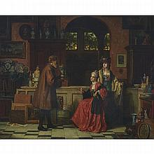 Jean Carolus (1814-1897), THE ANTIQUARIAN, Oil on canvas; signed lower left, 30