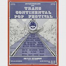 Trans Continental Pop Festival (Festival Express) Poster, 1970, 22.25
