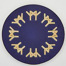 Expo '67 Ceramique de Beauce Pottery Logo Plaque, Beauce County, Quebec, 1967, diameter 13