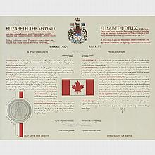 Commemorative Print of The National Flag of Canada Royal Proclamation, 1965, 20.25