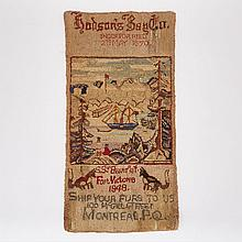 Hudson's Bay Co. Pictorial Hooked Silk Stocking Mat Advertisement, c.1933, 35
