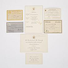 Lester B. 'Mike' Pearson Archive, 1943-1962 (7 Pieces)