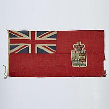 Early Large Canadian Red Ensign Flag, c.1870, 52