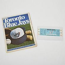 Toronto Blue Jays First Game Scorebook Magazine and Ticket, April 7, 1977, 27.5
