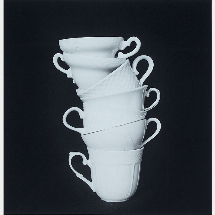 APRIL HICKOX, CRYSTAL, PORCELAIN, GLASS, gelatin silver print, sight 17 ins x 16.5 ins; 43.2 cms x 41.9 cms