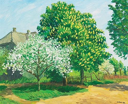 Ansis Artums (1908- 1997), Latvian BLOSSOM TIME;