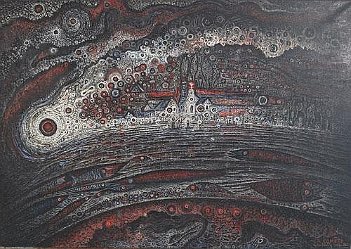 Robert Tatin (1902-1983), French LA COMETE; Oil on
