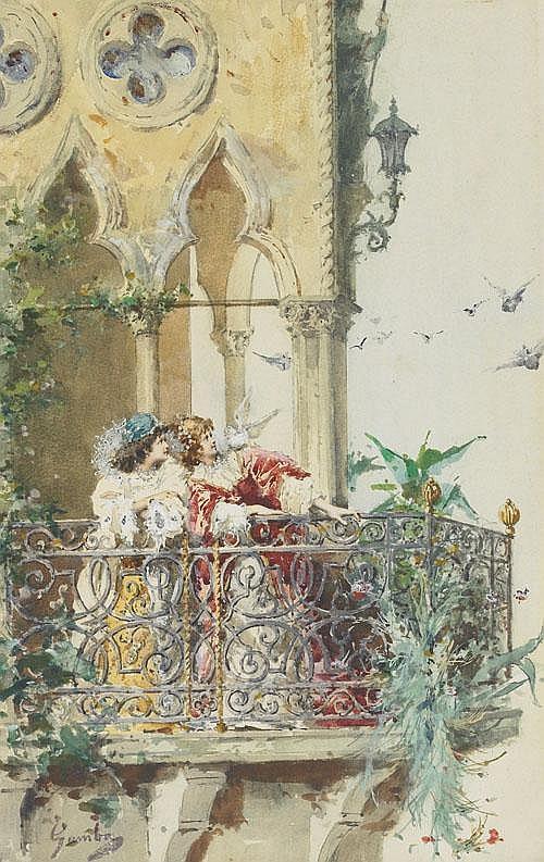 Enrico Gamba (1831-1883), Italian A VENETIAN