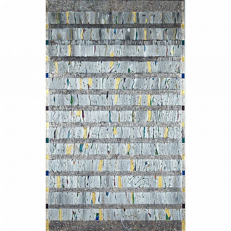 PHILIP A.J. AZIZ, THOUSAND AND ONE NIGHTS, MIXED MEDIA; SIGNED, DATED 1984 AND TITLED VERSO, 63