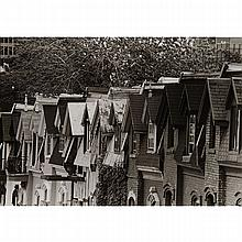 """EDWARD HILLEL (1953 - ), ROOFTOPS, BLACK AND WHITE PHOTOGRAPH; SIGNED AND NUMBERED 7/25, 13"""" x 19"""" - 33 x 48.3 cm."""