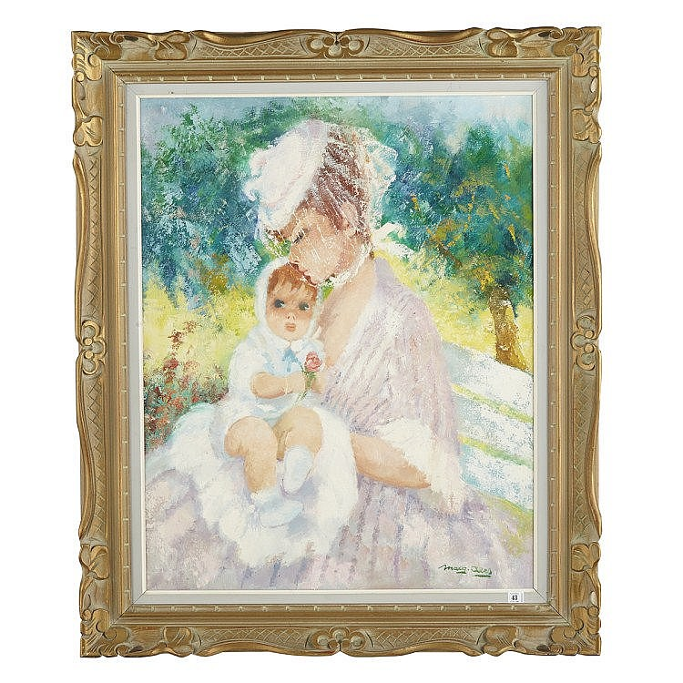 Marguerite Aers (1918-1995), Belgian MOTHER AND