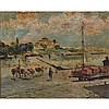 """MANUEL GARCÍA Y RODRÍGUEZ (1863-1925), COLECCION BAY, MADRID, Oil on board; signed and dated 1921 at Seville lower right, inscribed """"Coleccia Bau / Madrid"""" in pencil in an unknown hand to the backing paper on the frame verso, 7.5"""