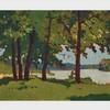 FRANK HANS JOHNSTON, O.S.A., A.R.C.A., SHORELINE, oil on board, 10.25 ins x 12.25 ins; 26 cms x 31.1 cms, Frank Hans Johnston, CAD5,000