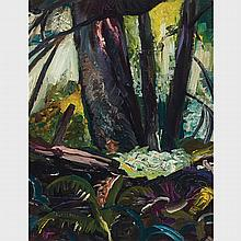 ARTHUR LISMER, O.S.A., R.C.A., B.C. FOREST, oil on panel, 16 ins x 12 ins; 40.6 cms x 30.5 cms