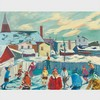 HENRI LEOPOLD MASSON, R.C.A., THE SKATERS, HULL, P.Q., oil on canvas, 22 ins x 28 ins; 55.9 cms x 71.1 cms, Henri Leopold Masson, CAD2,000