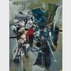 GEORGE EDMUND ALLEYN, COMPOSITION, gouache on paper, 12.75 ins x 9.5 ins; 24.1 cms x 31.8 cms, Georg Edmund Alleyn, CAD500