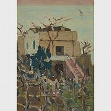 JAMES WILSON MORRICE, R.C.A., HOUSE AND GARDEN, CAPRI, C. 1894, oil on canvas, mounted to canvas, 11 ins x 8 ins; 27.9 cms x 20.3 cms