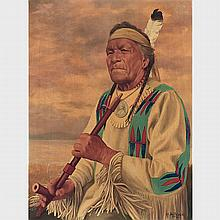 FATHER HENRY METZGER, MATO-EN-GAKI, SIOUX CHIEF, oil on canvas, 24 ins x 18.25 ins; 45.7 cms x 61 cms