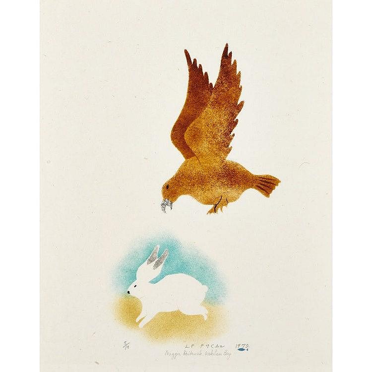 MAGGIE KIATAINAQ (1948-), E9-1536, Kangiqsualujjuaq