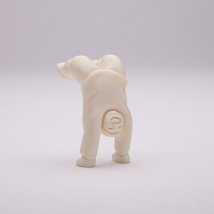 SILAS QAYAQJUAQ (1956-), MY BALANCE, ivory, 2