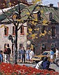 ANTOINE BITTAR IN OLD MONTREAL, oil on canvas, signed  20 ins x 16 ins; 50 cms x 40 cms E2000-2500 Painted in 1988.  Provenance: Masters Gallery Ltd., Calgary, Antoine Bittar, Click for value