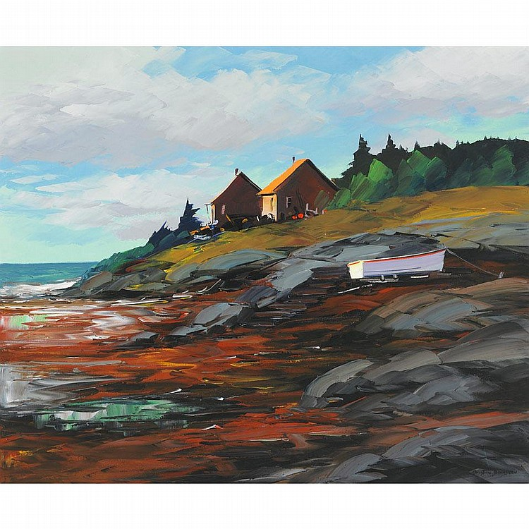 CHRISTIAN BERGERON EN GASPESIE, oil on canvas;