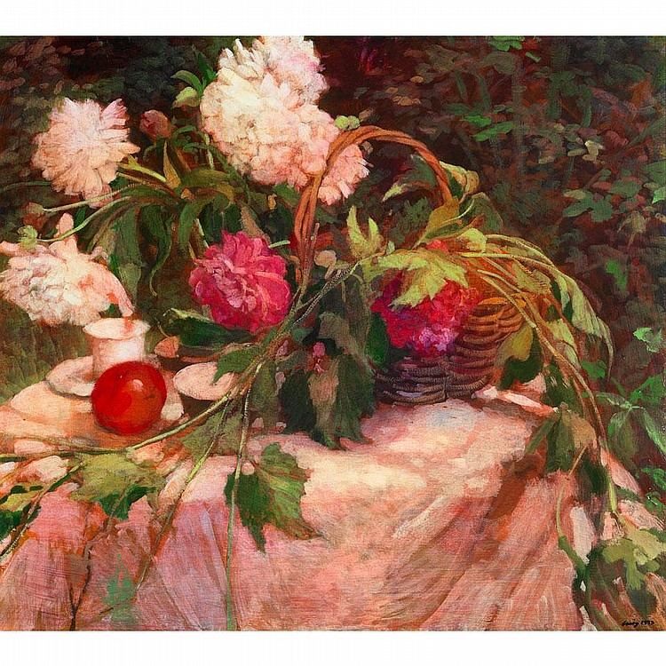 PHILIP CRAIG GARDEN STILL-LIFE, oil on canvas;