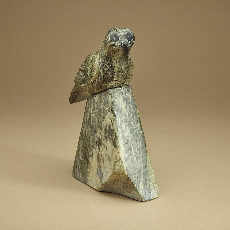 IOLAT QAUMANIQ (1925-D), E7-48, IQALUIT OWL ON BASE