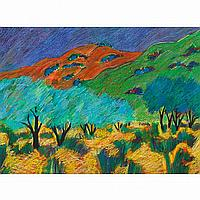 LUPE RODRIGUEZ DESCANSO TAOS, pastel; signed and