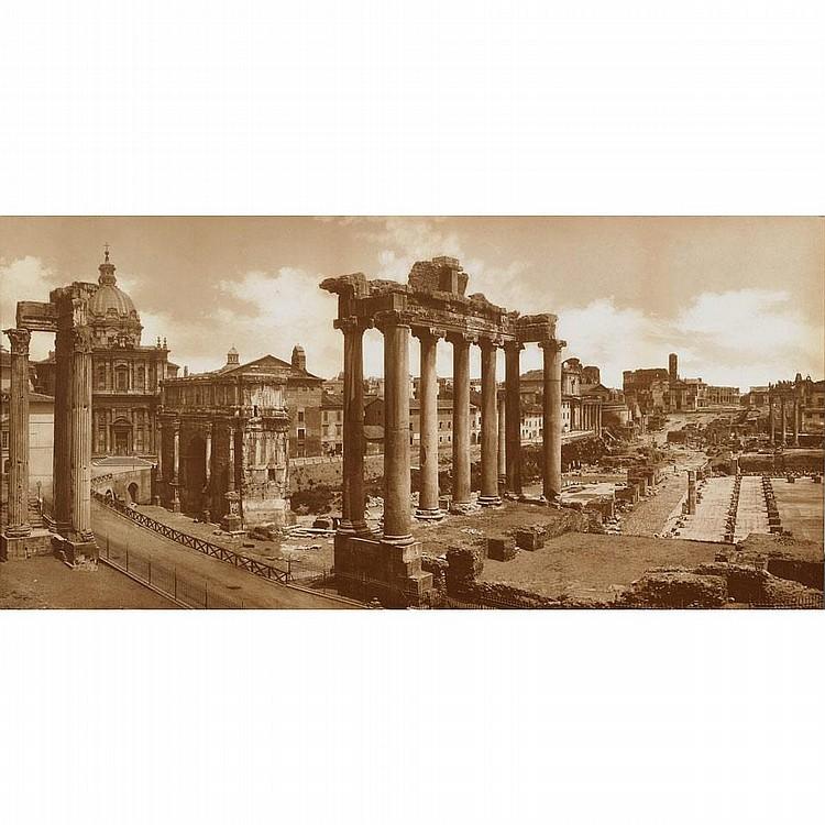 Gaetano Pedo (act. 1880-1890) & Giacomo Brogi (1822-1881), ItalianPANORAMIC VIEW OF ROME, CIRCA 1890