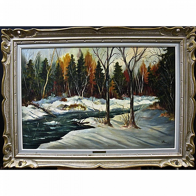 WALTER PRANKE (CANADIAN, 1925-), MORIN HEIGHTS - ST. SAUVEUR, QUE., OIL ON CANVAS; SIGNED LOWER RIGHT; TITLED TO STRETCHER IN PENCIL VERSO, 24