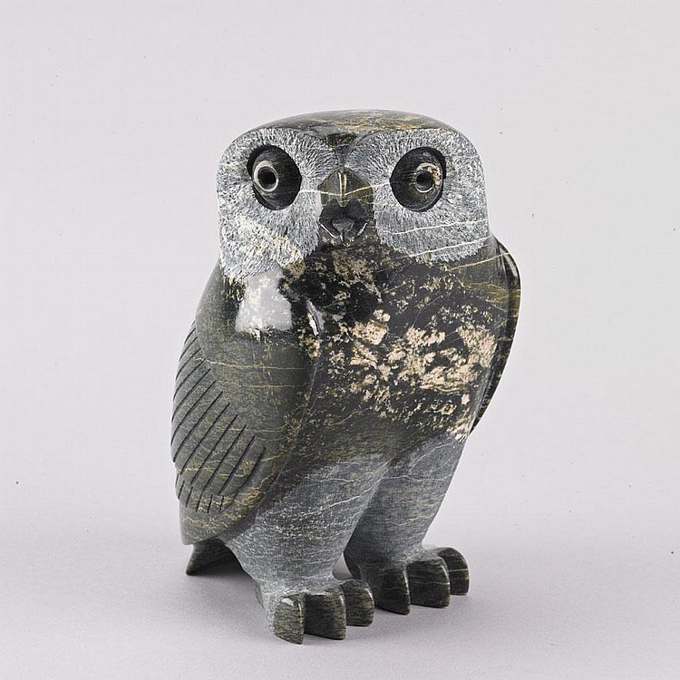 PITSIULA QIMIRPIK (1967-), E7-2457, IqaluitOWL, stone, dated 2006, signed in syllabics, 7.75