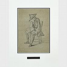 "Attributed to Michel Corneille (1642-1708), JOSEPH SOLD BY HIS BRETHREN, Sheet 9.5"" x 12"" — 24.1 x 30.5 cm.; 11"" x 8"" — 27.9 x 20.3 cm."